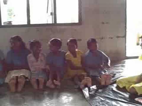 Cute Kids Sing In Assam, India