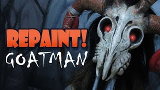 Repaint! The GOATMAN Halloween Custom OOAK Doll