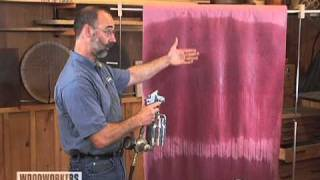 Woodworking Tips: Finishing - How to Avoid Spray Gun Bounce-Back