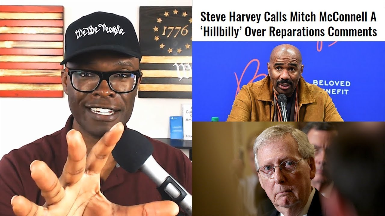 """Anthony Brian Logan Steve Harvey Calls Mitch McConnell A """"Hillbilly"""" For Reparations Remar"""