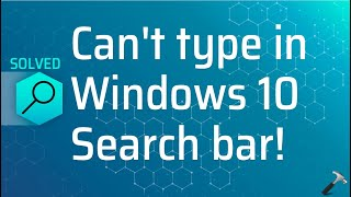 Can't type on my search bar - Microsoft Community