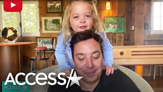 Jimmy Fallon's Daughters Adorably Interrupt Dad's Show From Home