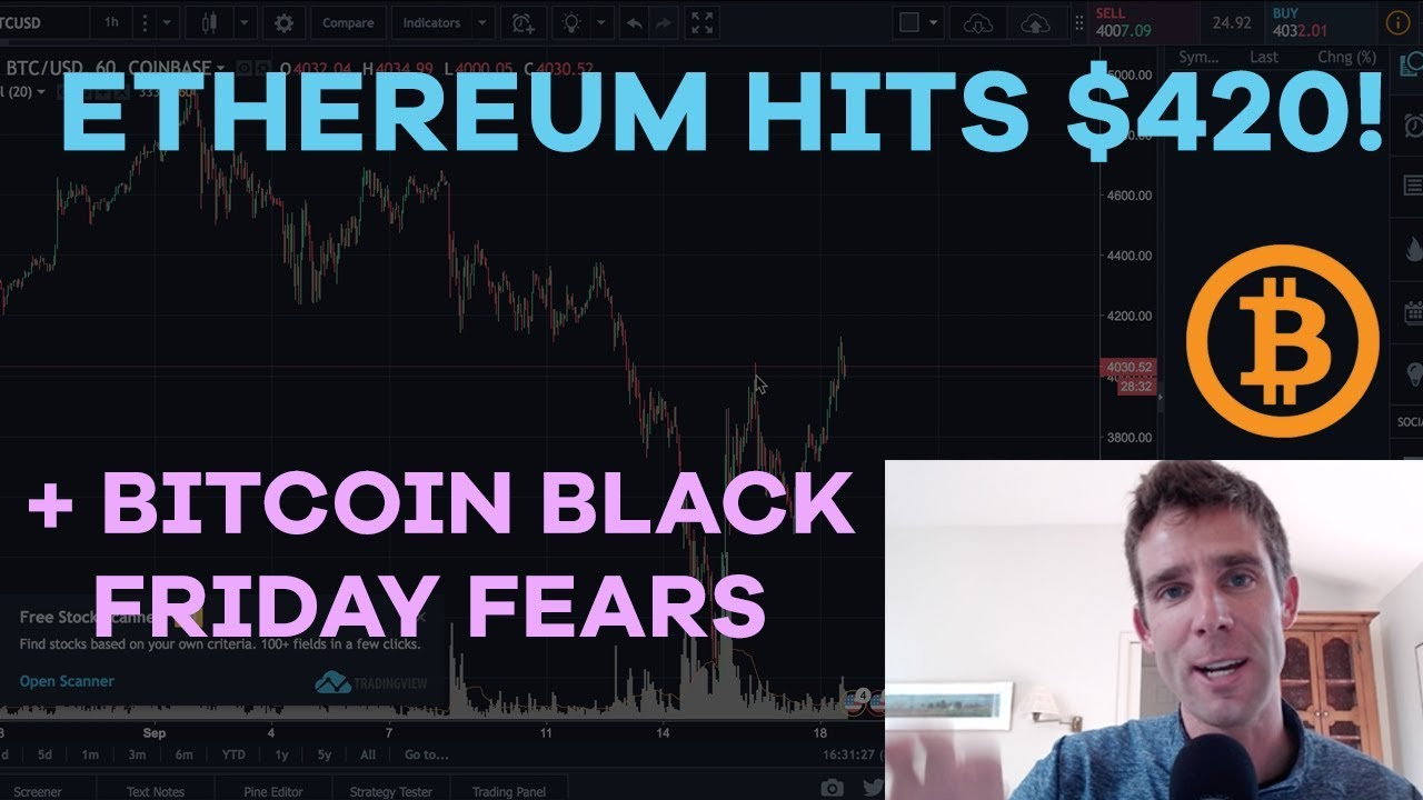 ethereum-hits-420-bitcoin-black-friday-fear-powerledger-quantstamp-dragonmint-miner-cmtv-ep91