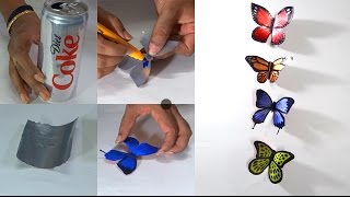 How to Make Butterflies With Coke Cans - Step by Step Tutorials