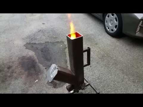 GRAVITY FEED PELLET - WOOD BURNING ROCKET STOVE PART 1