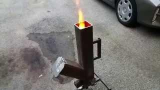 Gravity Feed Pellet - Wood Burning Rocket Stove Part 1