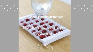 Kostki lodu z owocami i miętą #homebookgotuje