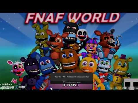 FNAF World 100% Complete Data File Download