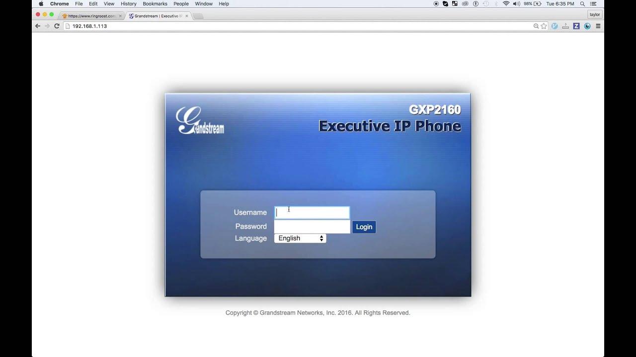 Grandstream GXP 2160 Configuration & Registration