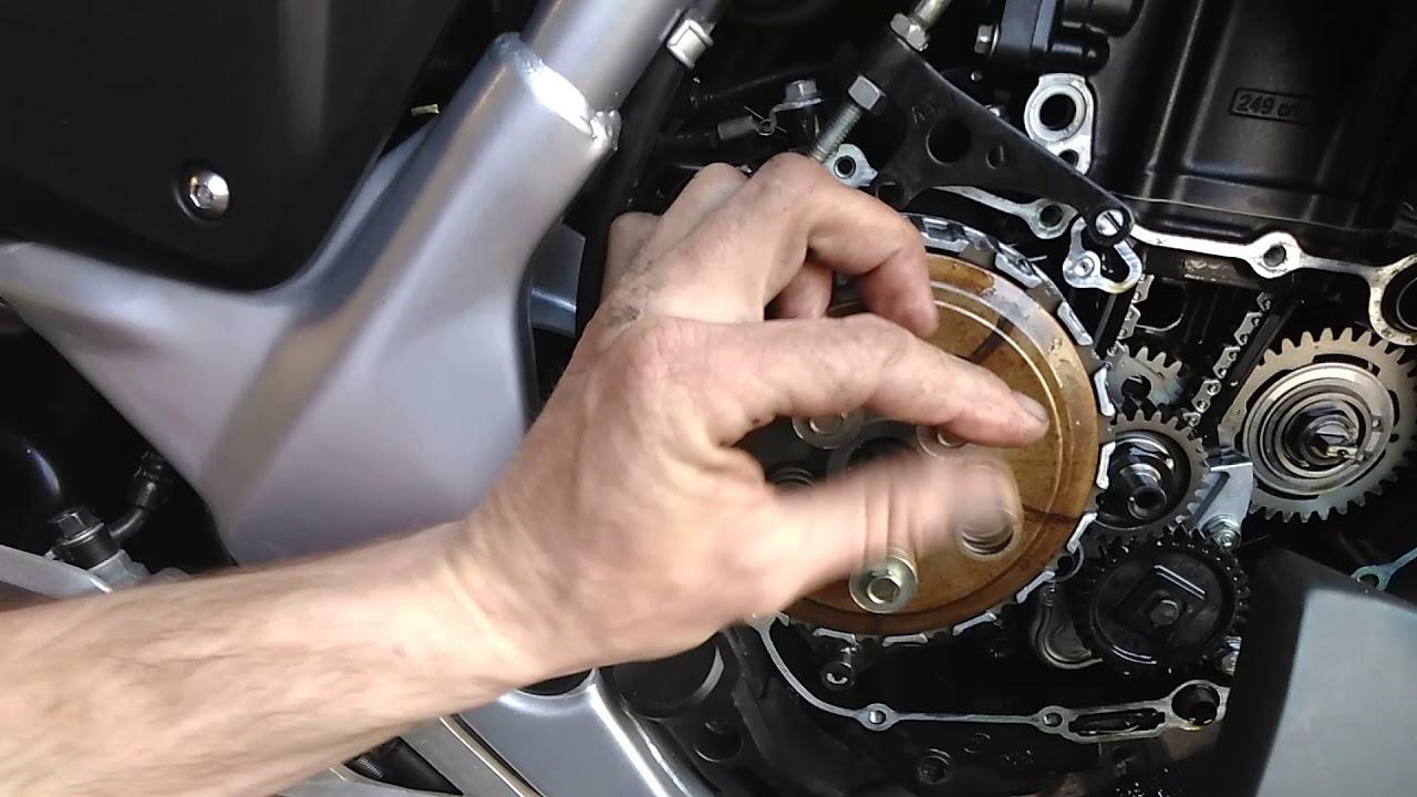 honda cbr250 clutch fibers replacement 5  [ 1280 x 720 Pixel ]