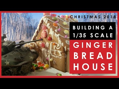 Making a scale model Christmas gingerbread house