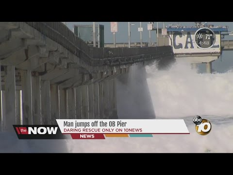 Man jumps off the OB Pier
