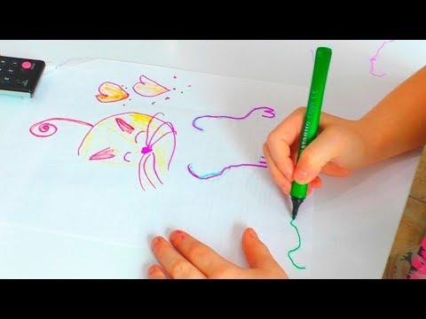 СТРАННЫЙ РИСУНОК КОТА стиль КЛИПАРТ урок рисования для детей от Матильды и её рисунки