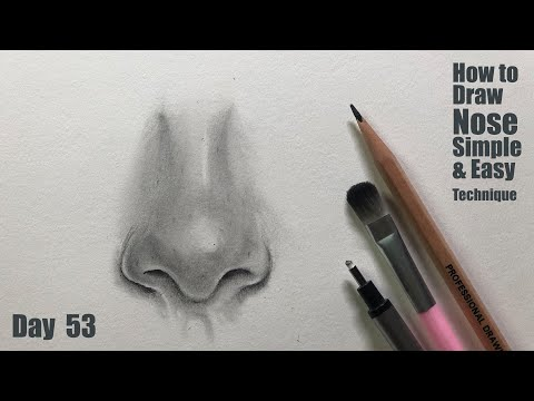portrait-drawing-for-beginners-|-day---55-|-how-to-draw-realistic-nose-|-simple-and-easy-technique