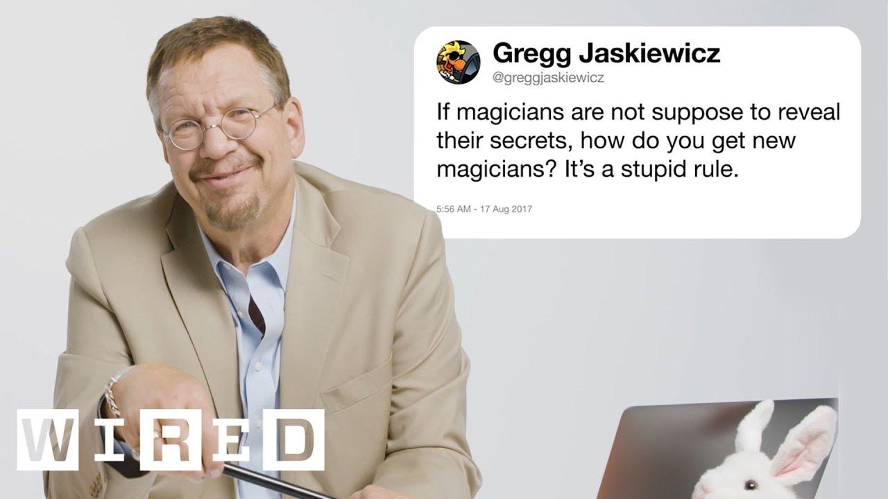 Penn Jillette (Penn & Teller) Answers Magic Questions From Twitter | Tech Support
