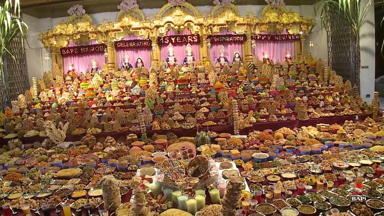 Diwali annakut celebrations 2014 nairobi kenya youtube for Annakut decoration ideas