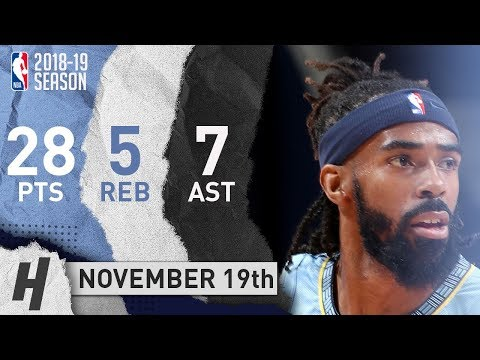 Mike Conley Full Highlights Grizzlies vs Mavericks 2018.11.19 - 28 Pts, 7 Ast, 5 Rebounds!