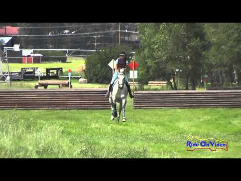 481XC Kathy Rundhaug SR Novice Cross Country The Event at Rebecca Farm July 2015