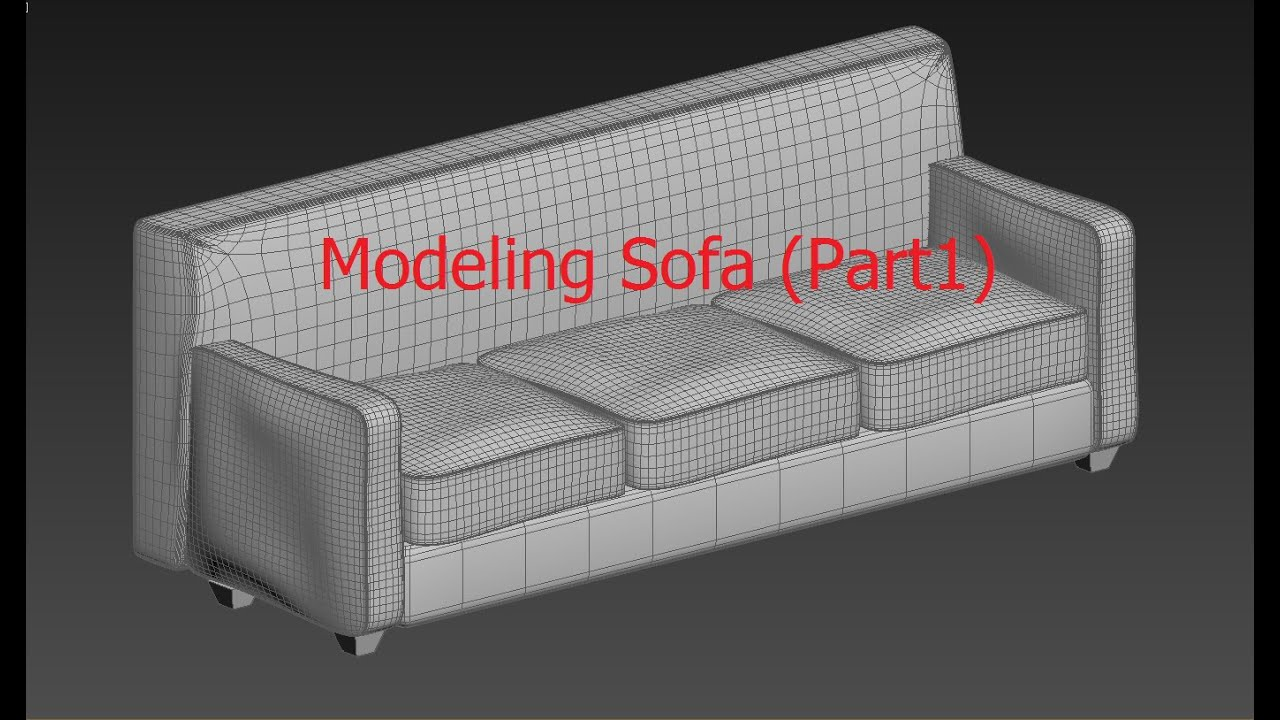 3DsMax Modeling Tutorial Tutorial Modeling A Sofa Part 1 YouTube