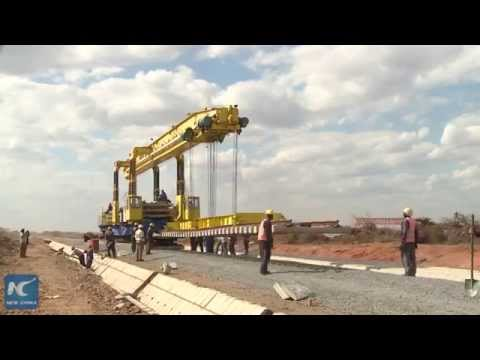 RAW: China-build standard gauge railway tests pave in Africa