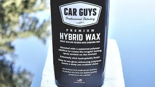 Car Guys Hybrid Wax Review