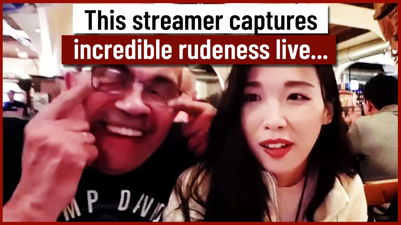 This Streamer captures incredible rudeness live...