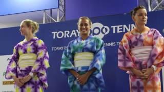 東レPPOテニス公式Youtubeチャンネル_浴衣で羽子板 選手入場