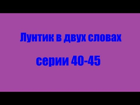 Лунтик. Серии 40-45 в двух словах