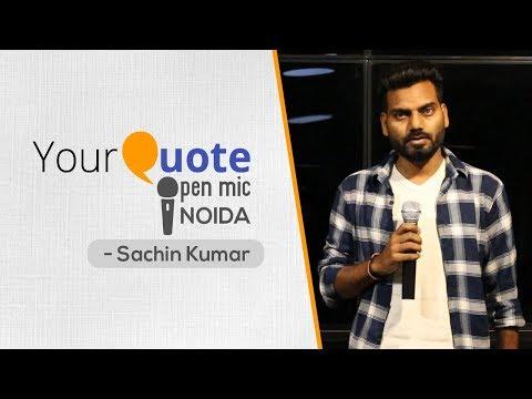 'Bewafai' By Sachin Kumar | Hindi Poetry | YourQuote - Noida (Open Mic 1)