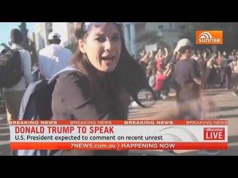 Australian TV Crew Struck by Police in Washington