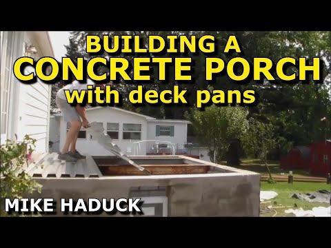 How I build a concrete porch with deck pans Mike Haduck