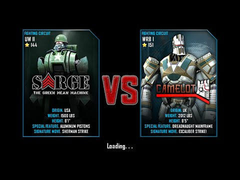 Real Steel WRB Free Sparring | Sarge VS Camelot | NEW ROBOT