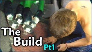 Running 1/0 Power & Ground Wires & Sound Deadening Floors w/ Second Skin Damplifier Pro