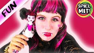 DRACULAURA Makeup Monster High Kostüm | Kathi verkleidet sich für HALLOWEEN als MonsterHigh Puppe