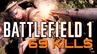 Battlefield 1: 69 Kills in the Forest (PS4 Pro Multiplayer Gameplay)