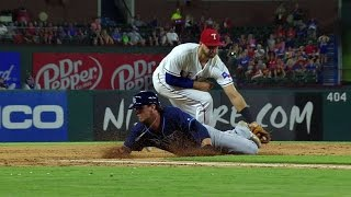TB TEX Andrus Cuts Down Rasmus After Call Overturned