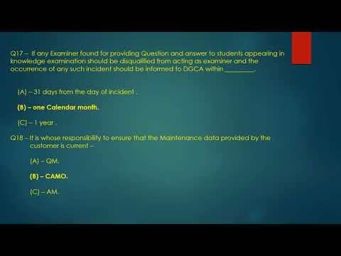 Module 10 - DGCA CAR 66 exam question bank part -I - YouTube