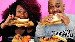 GHETTO FRIED CRUNCHY FISH SANDWICH MUKBANG! EXTREME CRUNCH!