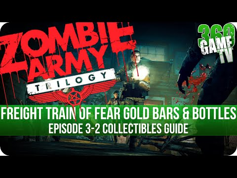 Zombie Army Trilogy - Freight Train of Fear - All Gold Bars and Bottles Collectible Locations