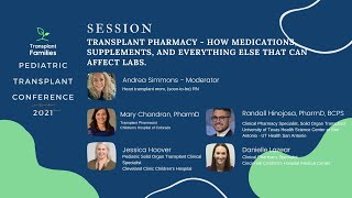 Transplant Pharmacy: How Everything Affects Your Kids' Labs - 2021 Pediatric Transplant Conference