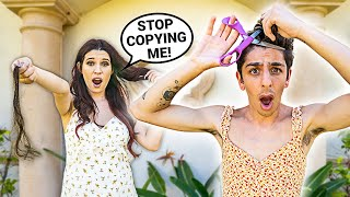Copying What My Girlfriend Does For 24 Hours! **i regret this**