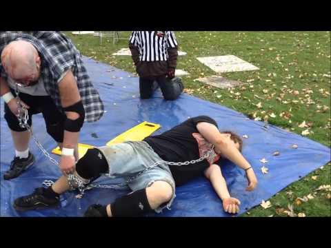 dog collar match -jc pain vs t.o.d  (backyard wrestling)