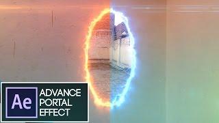 After Effects Tutorial:VideoCopilot SABER Plug-in PORTAL EFFECT:(Easiest Method)
