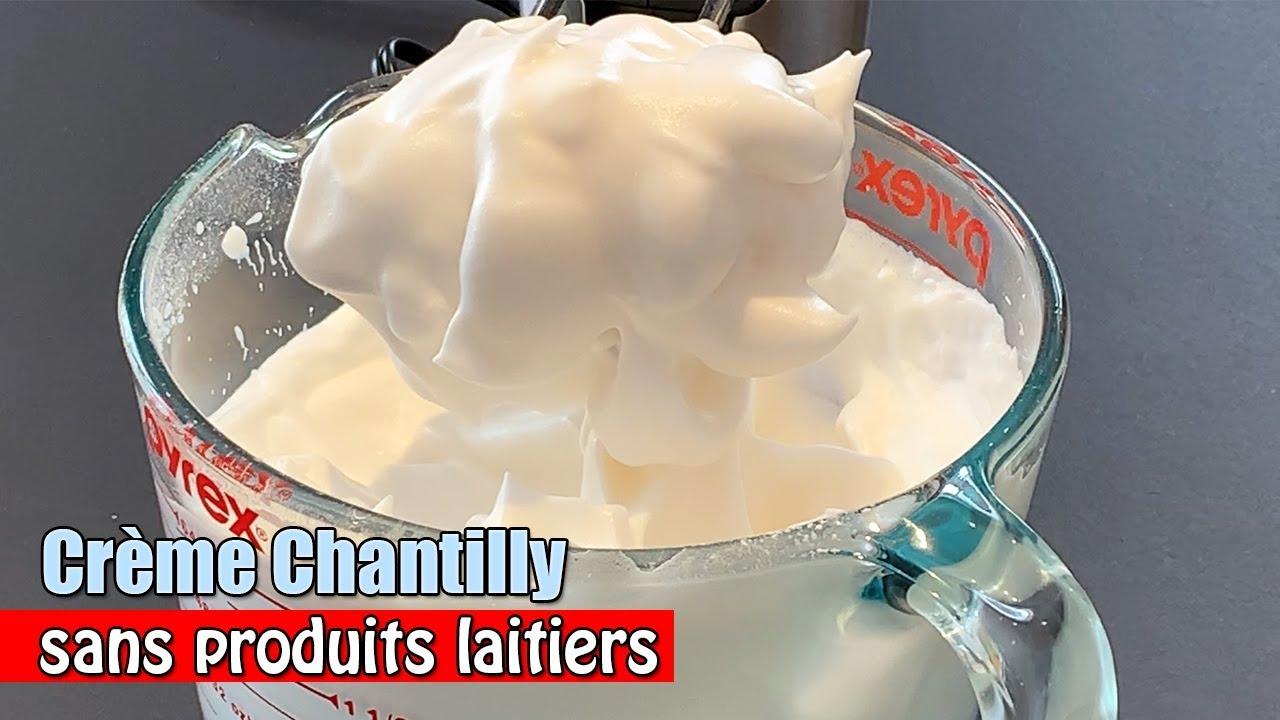 Cr me chantilly maison sans produits laitiers recette de cr me fouett e sans lactose vegan - Chantilly maison sans syphon ...