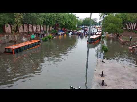 The condition of capital city, New Delhi, Minto Bridge