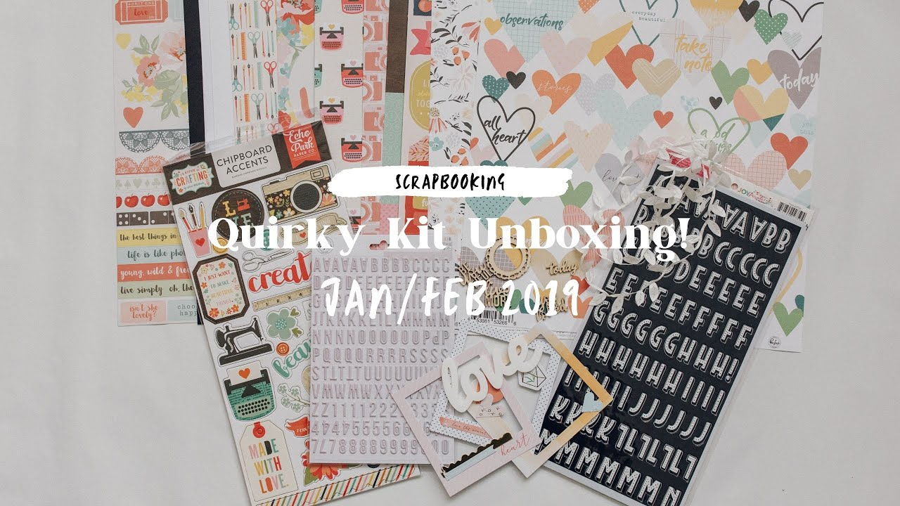January/February Crafty Templates Quirky Kit Unboxing - YouTube