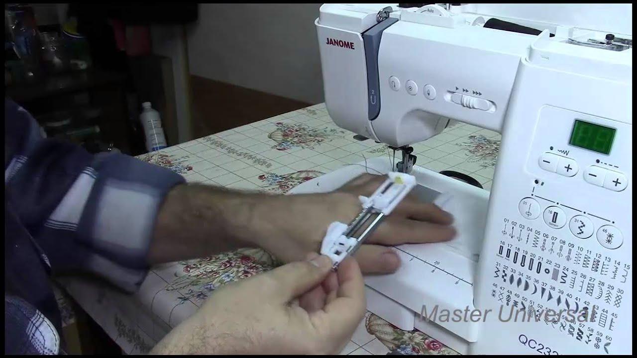 видео работы швейной машинки джаноме