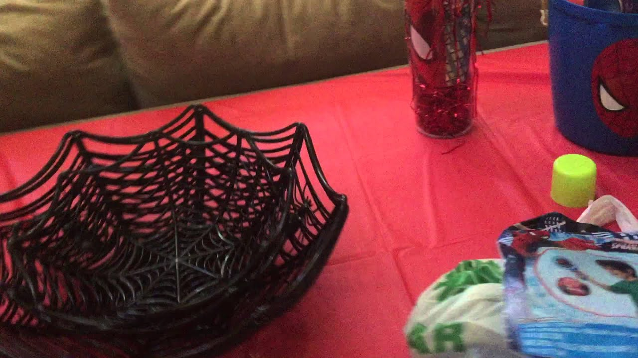 SpiderMan Birthday Party Halloween Games Decorations DIY spider web