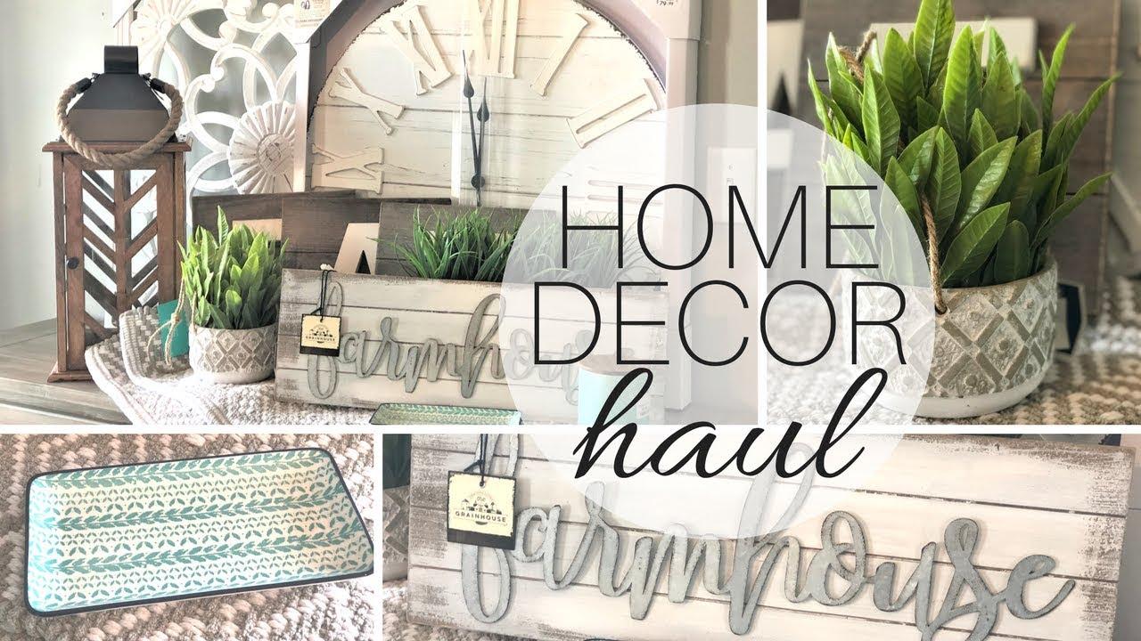Home Decor Haul W Talking Modern Farmhouse Decor Fixer Upper Style Youtube