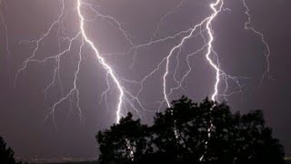 Amazing Thunder and Lightning Manchester thunderstorm NW June 16th North of England